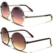 Gafas de sol de hombre negro redondo, con 100% UVA & UVB