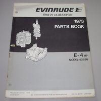 Parts Book Evinrude E-4 HP Model 43B36 Ersatzteilkatalog Ausgabe 1973!