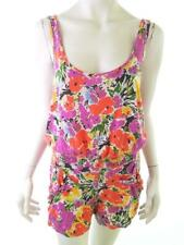 Topshop Women's Overall EU 38 UK 12 / 10 US 8 pink flowers floral cotton 100%