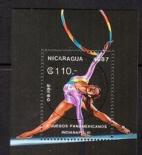 0110+ NICARAGUA  BLOC  JEUX PANAMERICAINS GYM  1987