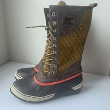 Sorel Women's Sorelli Tall NL1619-310 Waterproof Winter Boots US Sz 9 Brown