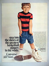 Converse All Stars Basketball Sneakers PRINT AD - 1969