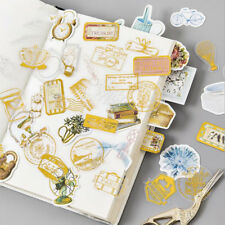 45Pcs New Gold Silver Decorative Stickers Diary Scrapbook Hollow Label Decal