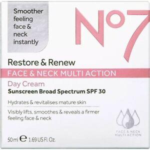 No7 Restore & Renew FACE & NECK MULTI ACTION Day Cream 50mL/1.69 fl oz