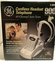 New In Box GE (2-9917) 40-Channel Auto Scan 900MHz Cordless Headset Telephone
