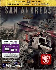 SAN ANDREAS Ultimate 3D Edition SteelBook Region Free/2 Bluray/DVD France Import