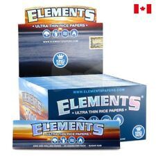 ELEMENTS Ultra Thin Rice King Size Slim Rolling Papers - 1 Box 50 Booklets