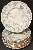 "BEAUTIFUL COALPORT HEIRLOOM 1 DINNER PLATE (S) 10 1/2"" GOLD~BLUE~GREY"