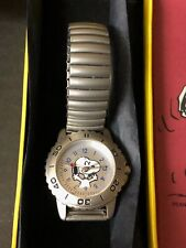 More details for peanuts boxed snoopy waving smiling analogue watch metal strap opex schultz
