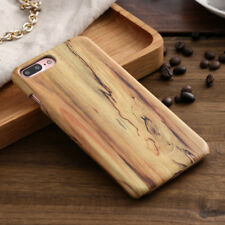 Luxury Wood Grain PU Leather Back Case Cover For iPhone Xs Max XR 6/7/8 Plus S8