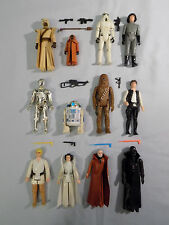 STAR WARS VINTAGE 1977 KENNER ACTION FIGURES FIRST 12-BACK COMPLETE! VINYL JAWA!