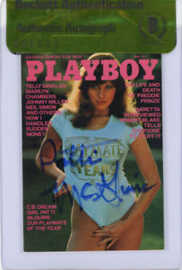 PATTI MCGUIRE SIGNED #70 PLAYBOY TRADING CARD PLAYMATE ENCAPSULATED BECKETT BAS