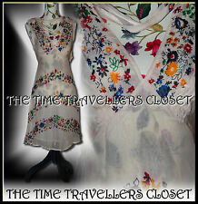 Kate Moss Topshop Floral Cream Yellow Ditsy Summer Festival Tea Dress Boho UK 8