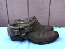 Frye Carson Women's US 6B Brown Leather Boots Clogs Mules Slides A7