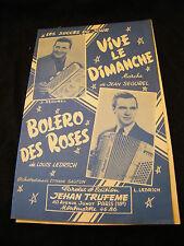 Partition Vive le Dimanche Jean Ségurel Bolero des roses Ledrich Music Sheet