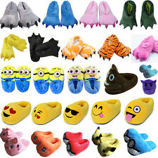 Adults Kids Slippers Cosplay Winter Warm Plush Stuffed Indoor Shoes Xmas Gifts