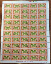 1976-77 Norfolk Island 3 cent butterflies full sheet of 50