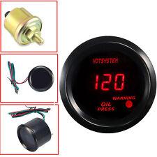"""2"""" 52mm HOTSYSTEM Digital Red LED PSI Oil  Press Gauge With Sensor For Car Truck"""