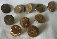 Bb 10 Assorted Overall Buttons Wobble Shanks OLD