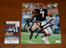 BOOMER ESIASON Signed 8x10 Photo-Cincinnati Bengals-Eagles-JSA Authenticated