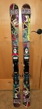 Nordica Ace of Spades 128 cm Twin Tip kids Skis Dynastar Team 7 DIN Bindings GUC