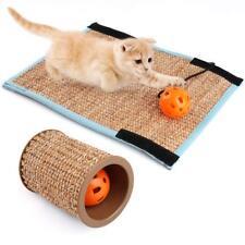 Cat Scratching Post + Mat Scratcher Sisal Pet Play Toy Scratch Protector w/ Bell