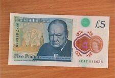 AK47 Note 5 pound Rare 555 series Mint Condition AK47 555636