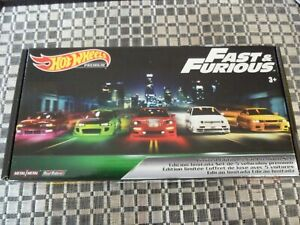 Hot Wheels Fast & Furious Limited Edition Premium Set