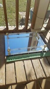 "International Silver Co. Mirrored Vanity Tray 11"" x 8"" Mirror"
