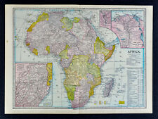 1899 Martin Miller Map - Africa Johannesburg Cairo Suez Canal Cape Colony Guinea