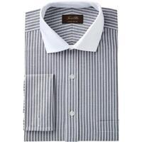 Tasso Elba Men's Regular Fit Non-Iron Twill Bar Stripe French Cuff Dress Shirt
