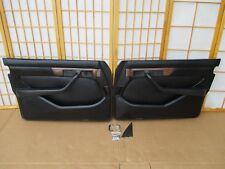 86-91 Mercedes W126 560 420 350 300 Left Right BLACK Interior Door Panel SET