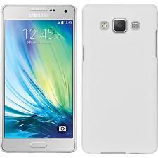 Coque Rigide Samsung Galaxy A5 (A500) - gommée blanc + films de protection