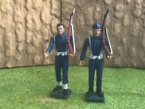 2 Modern Greek Soldiers, Air Force. Aohna Athena Greece. 54 mm plastic soldier