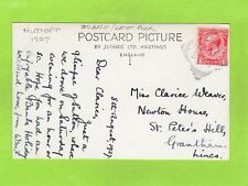 More details for huttoft squared circle postmark 1927 late use nr alford lincolnshire pc ref e465