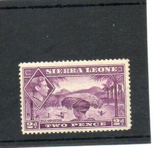 SG 191 SIERRA LEONE 2d MAUVE  N/H/MINT. CAT £50.. TWO SCANS