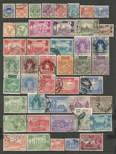BURMA FROM CIRCA 1947 SMALL USEFUL FINE USED COLLECTION OF ALBUM REMAINDERS