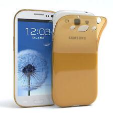 Ultra Slim Cover für Galaxy S3 / Neo Case Silikon Hülle Transparent Gold