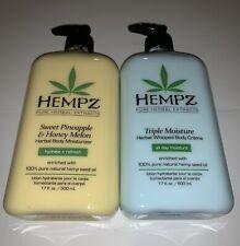 LOT OF 2 HEMPZ TRIPLE MOISTURE AND SWEET PINEAPPLE HONEY MELON