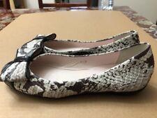 Paul Mayer Attitudes, Snake Leather with Black Cap Toe Ballet Flats size 6.5 B