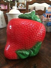 Vintage Sears USA Bisque Strawberry Cookie Jar