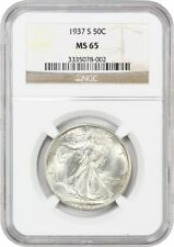 1937-S 50c NGC MS65 - Walking Liberty Half Dollar