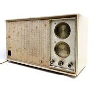 Needs Repair, AM Only Vintage General Electric Radio Model T246-A Honey Beige