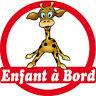 Aufkleber Sticker Auto Fahrzeug Kind à bord Giraffe 16x16cm ref 166
