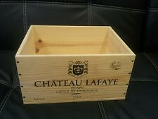 6 X CLASSIC FRENCH WOODEN WINE CRATES BOXES  PLANTER HAMPER DRAWERS / STORAGE