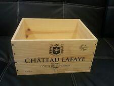6 x Classica Francese in legno vino gabbie caselle FIORIERA ostacolare CASSETTI / Storage