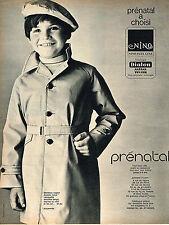 PUBLICITE  1967   PRENATAL   manteau NINO DIOLEN