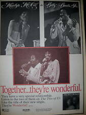 Marilyn McCoo Billy Davis Jr. 1977 promo ad Wonderful