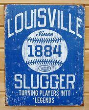 Blue Louisville Slugger baseball 1884 Tin Sign metal poster vtg wall decor 1867
