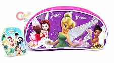 Disney TinkerBell Pencil Case Cosmetic Bag Violet Pink